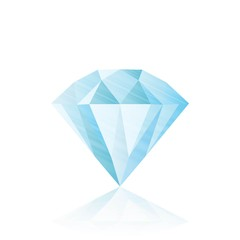 Diamond isolated on white . realistic vector illustration