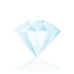 Diamond isolated on white . realistic vector illustration