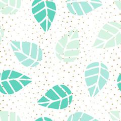 Fototapete - Seamless Leaves Pattern