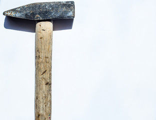 Used hammer on isolated background. With space for text
