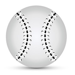 Isolated gray baseball