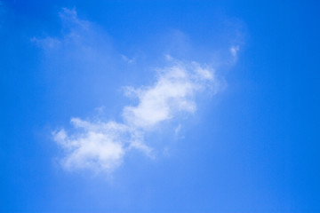 Light cloud with blue sky