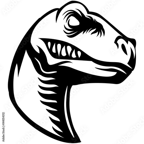 scary raptor head clipart black and white stock image and royalty rh fotolia com Raptor Clip Art Black and White Cartoon Raptor