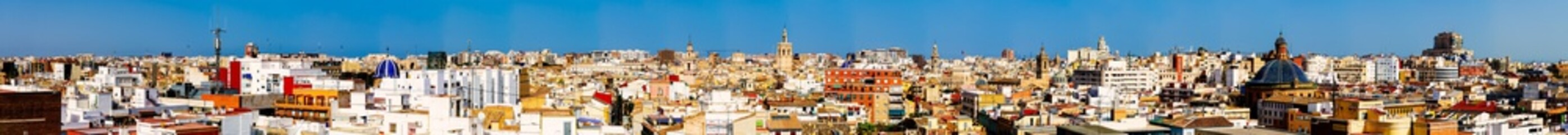 Foto op Canvas Aerial Panoramic View Of Valencia City In Spain