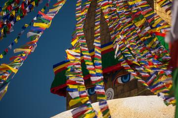 Boudnath stupa in Kathmandu, Nepal