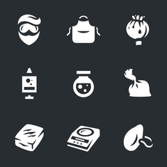 Vector Set of Drug laboratory Icons.