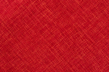 Red cloth background.