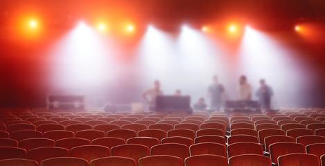 The auditorium before the concert
