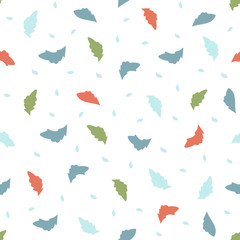 Seamless pattern with small leaves and petals. lightweight background for textiles, Wallpaper, and various designs. vector