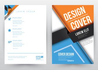 Cover Design Vector template set Brochure, Annual Report, Magazine, Poster, Corporate Presentation, Portfolio, Flyer, Banner, Website. A4 size