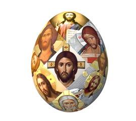 Пасхальное яйцо с ликами Христа
