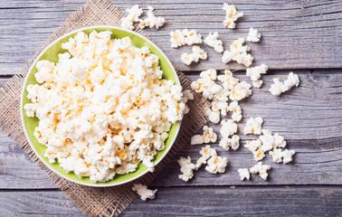 Salt popcorn background
