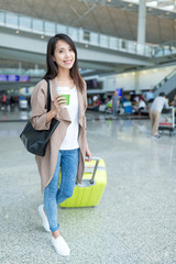Young woman go travel