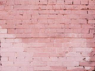 Pink brick wall.