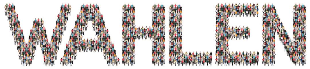 Wahlen Wahl wählen Europa Politik Leute Menschen People Gruppe Menschengruppe