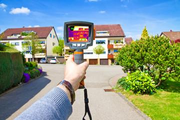 Messung mit der Wärmebildkamera
