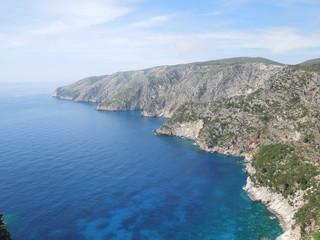 Cliff coast on Zakynthos Islan