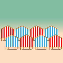 Beach Huts on the seacoast
