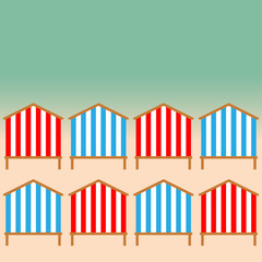 Beach Huts on the seacoast