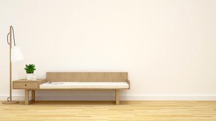 coffee shop or living room - 3D rendering