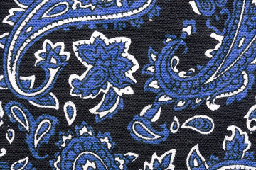bandana detail close up blue color
