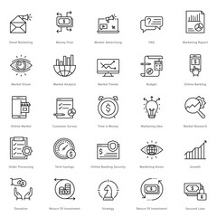 Banking and Finance Line Vector Icons 15