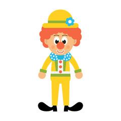cartoon clown with hat vector