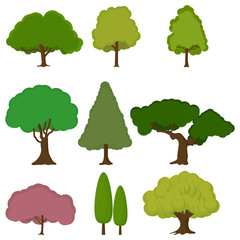 tree icon set nature