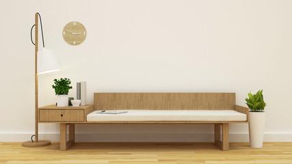 coffee shop or living room clean design - 3D rendering
