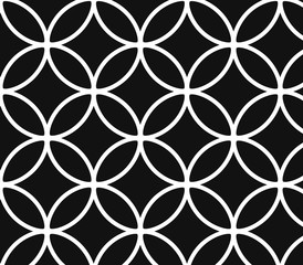 Abstract geometric black and white hipster fashion pattern