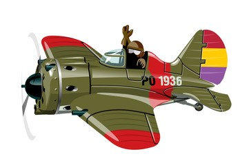 Vector Cartoon Retro airplane. Available EPS-10 vector format separated by groups for easy edit