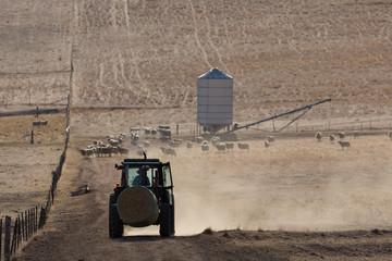 A Tractor on a dry Australian Farm