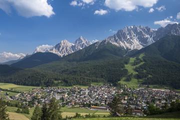 San Candido/Innichen, Dolomites, South Tyrol, Italy. The village of San Candido/Innichen