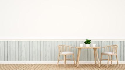 dining set modern classic design - 3D Rendering
