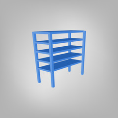 Vector blank storage shelf icon