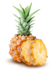 Baby pineapple isolated on white background