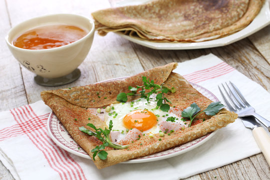 galette sarrasin, buckwheat crepe, french brittany cuisine