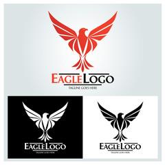 Eagle logo design template. Eagle head logo. Vector illustration