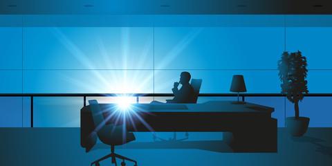 Bureau - patron - PDG - direction - chef d'entreprise - homme d'affaires