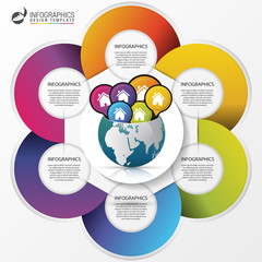Infographic design template. Creative world. Travel concept