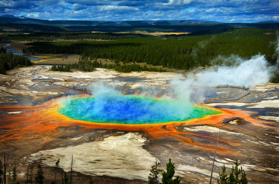 Grand Prismatic Pool at Yellowstone National Park