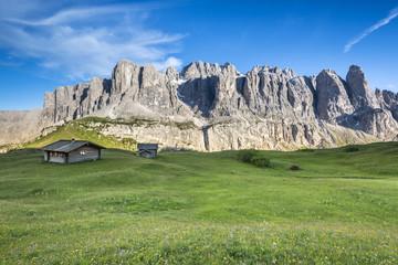 Passo Gardena, Dolomites South Tyrol, Italy. The peaks of the Sella