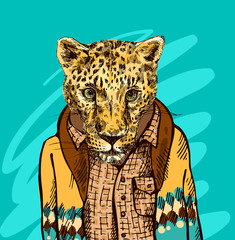 Cheetah in a jacket