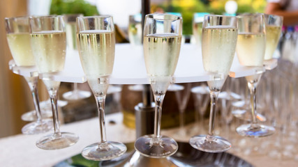 Champagne and glasses