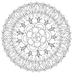 Mandala Adult Coloring Book Design