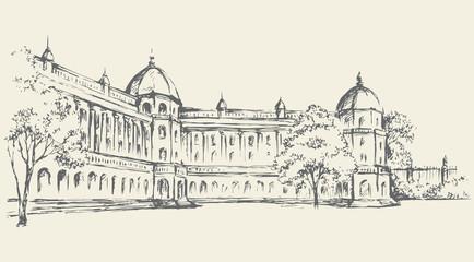 Palace. Vector drawing