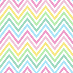 chevron pastel colorful spring pink blue yellow green turquoise pattern seamless vector