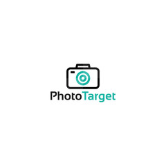 flat designs style of Photo Target Logo designs template