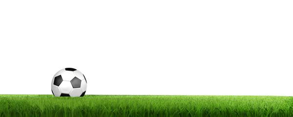 Fussball auf Rasenstreifen