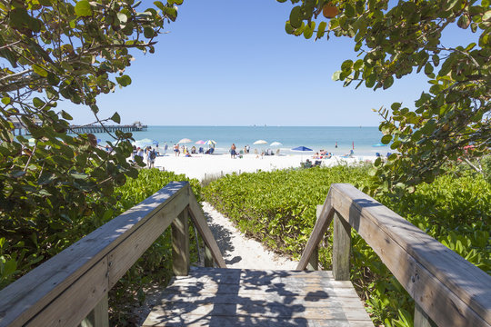 Beautiful beach in Naples, Florida